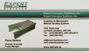 Expert Convoyeur - Carte d'affaire - R1